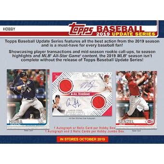 2019 Topps Update Series Baseball Hobby Box (PLUS 1 Silver Pack!) (Presell)