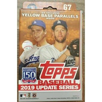 2019 Topps Update Series Baseball Hanger Box (Yellow Parallels)