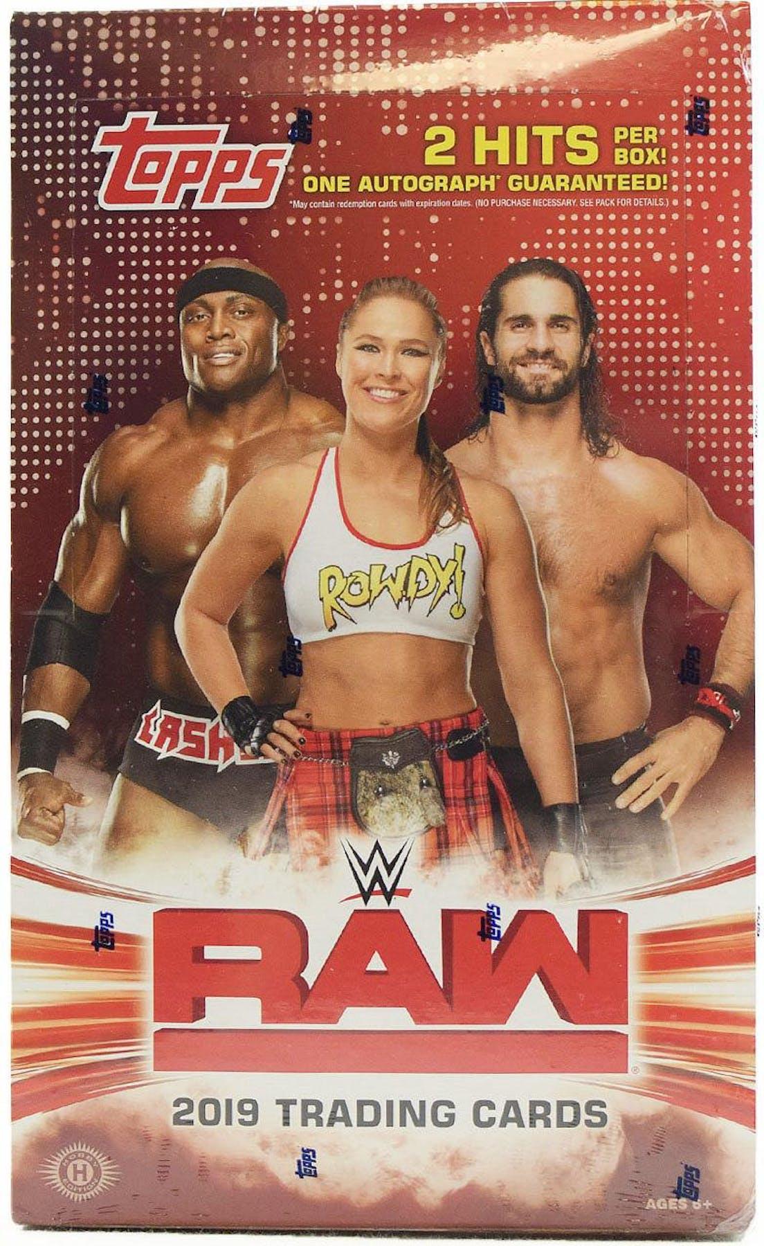 2019 Topps WWE RAW Wrestling Hobby Box