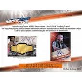 2019 Topps WWE Smackdown Live! Wrestling Hobby 8-Box Case (Presell)