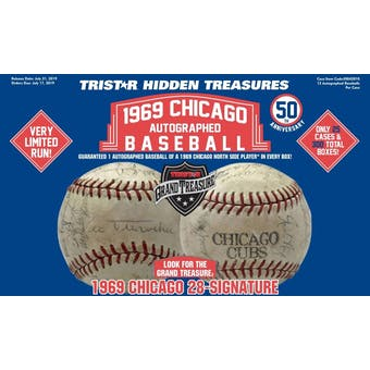 2019 TriStar 1969 Chicago Autographed Baseball Hobby Box