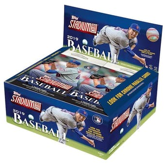 2019 Topps Stadium Club Baseball 24-Pack Box