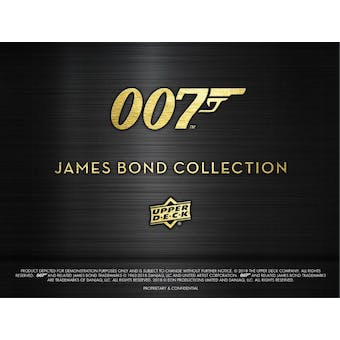 007 James Bond Collection Trading Cards Hobby Pack (Upper Deck 2019)