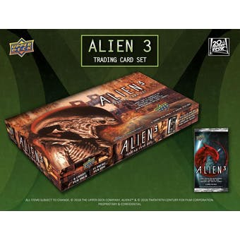 Alien 3 Trading Cards Hobby 16-Box Case (Upper Deck 2019) (Presell)