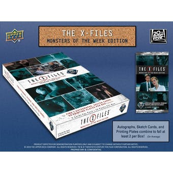 The X-Files: Monsters of the Week Trading Cards 12-Box Case (Upper Deck 2019) (Presell)