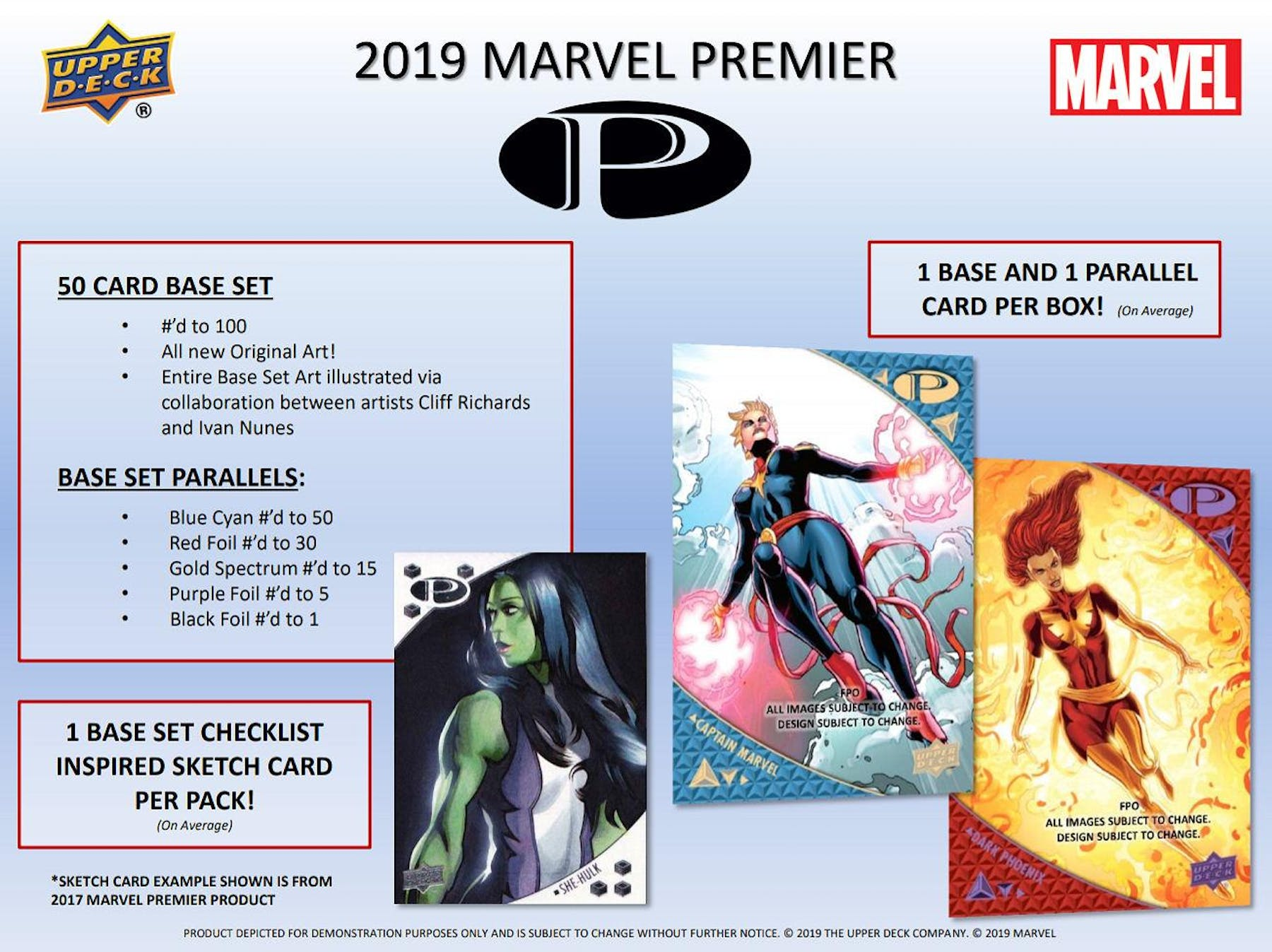 Marvel Premier Trading Cards Box (Upper Deck 2019) (Presell)