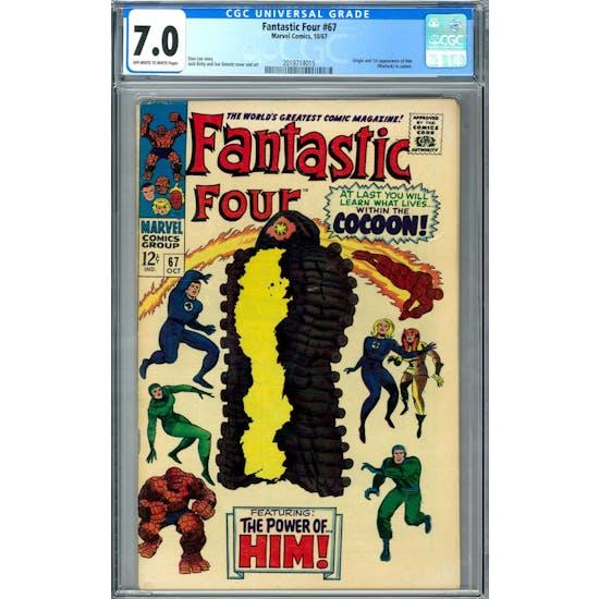 Fantastic Four #67 CGC 7.0 (OW-W) *2019714015*