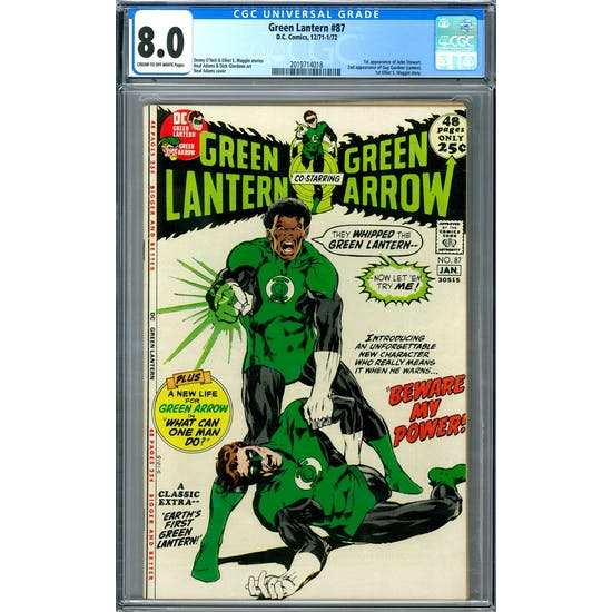 Green Lantern #87 CGC 8.0 (C-OW) *2019714018*