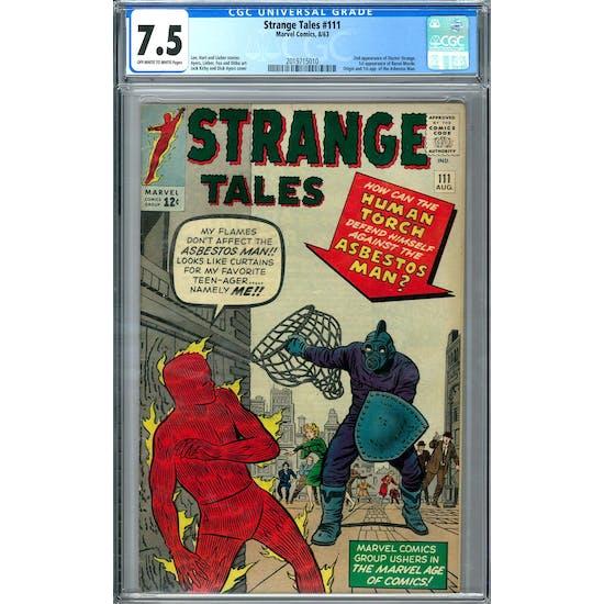 Strange Tales #111 CGC 7.5 (OW-W) *2019715010*