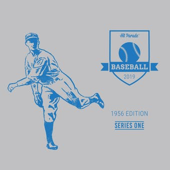 2019 Hit Parade Baseball 1956 Edition - Series 1 - 10 Box Hobby Case /142 - PSA Graded Cards-Mantle
