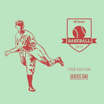 2019 Hit Parade Baseball 1958 Edition - Series 1 - Hobby Box /176 -Mantle-Berra-Maris-PSA