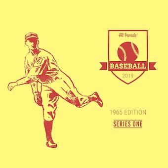 2019 Hit Parade Baseball 1965 Edition - Series 1 - 10 Box Hobby Case /209 - PSA Graded Cards - Mantle-Mays