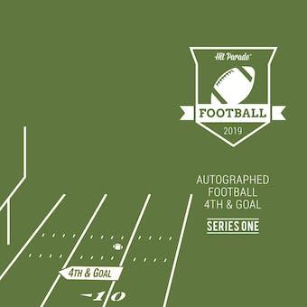 2019 Hit Parade Autographed Football 4th & Goal Hobby 3-Box Series 1- DACW Live 12 Spot Random Hit Break #1