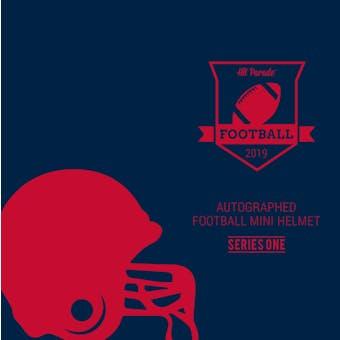2019 Hit Parade Auto Football Mini Helmet 1-Box Series 1- DACW Live 8 Spot Random Division Break #1
