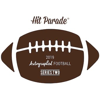 2019 Hit Parade Autographed Football 1-Box - Series 2- DACW Live 8 Spot Random Division Break #6