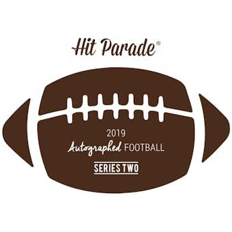 2019 Hit Parade Autographed Football 1-Box - Series 2- DACW Live 8 Spot Random Division Break #6