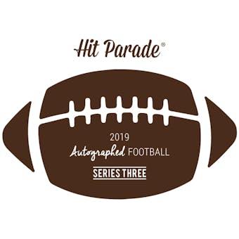 2019 Hit Parade Autographed Football Hobby Box - Series 3 - Johnny Unitas, Joe Montana, & Drew Brees!!!