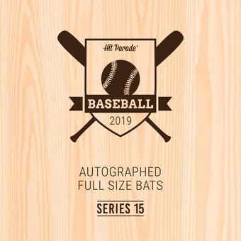 2019 Hit Parade Autographed Baseball Bat 1-Box Series 15- DACW Live 6 Spot Random Division Break #3