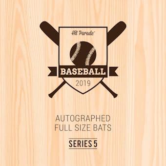 2019 Hit Parade Autographed Baseball Bat 1-Box Series 5- DACW Live 6 Spot Random Division Break #1