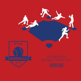 2019 Hit Parade Autographed TRIPLE PLAY Baseball Series 1-  3-Box - DACW Live 9 Spot Random Hit Break #3