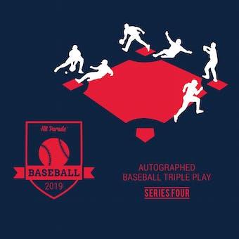 2019 Hit Parade Autographed TRIPLE PLAY Baseball Series 4-  3-Box - DACW Live 9 Spot Random Hit Break #1