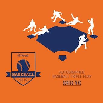 2019 Hit Parade Autographed TRIPLE PLAY Baseball Edition Hobby Box - Series 5 Bellinger, Baez, Griffey Jr!!!