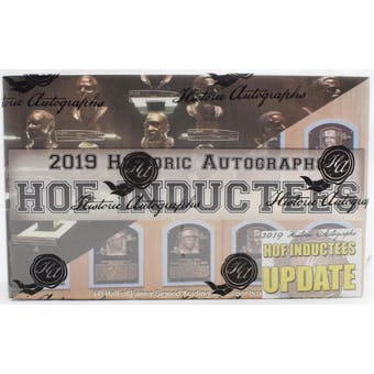 2019 Historic Autographs Hall of Fame Inductees Update Edition Hobby Box