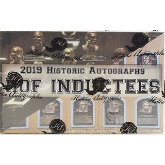 2019 Historic Autographs Hall of Fame Inductees Hobby Box