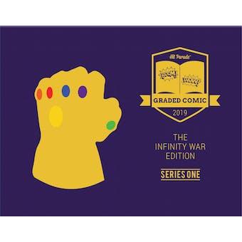2019 Hit Parade Infinity War Graded Comic Edition Hobby Box - Series 1 - 1st Thor, Carol Danvers & Thanos!!
