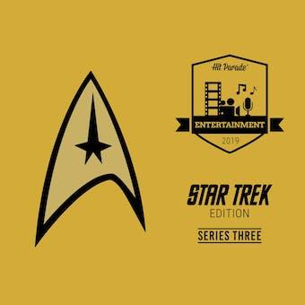 2019 Hit Parade Star Trek Limited Edition - Series 3 - Hobby Box /50 Shatner-Nimoy-Stewart