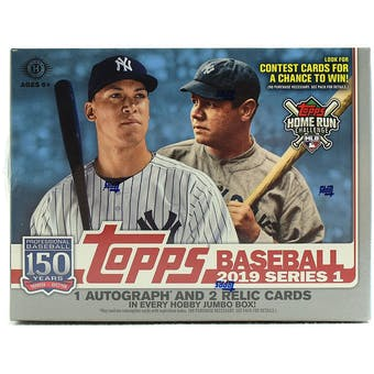 2019 Topps Series 1 Baseball Hobby Jumbo Box