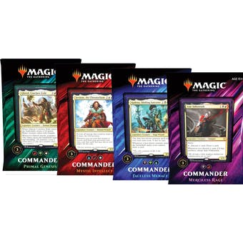 Magic the Gathering Commander 2019 Set of 4