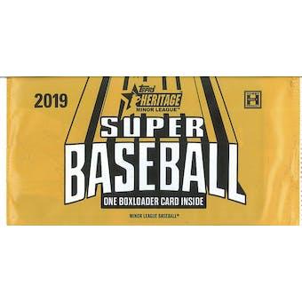 """2019 Topps Heritage Minor League Baseball """"Super Baseball"""" Topper Pack"""