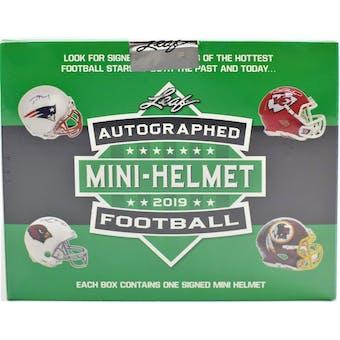 2019 Leaf Autographed Football Mini-Helmet Edition Hobby Box