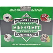 2019 Leaf Autographed Football Mini-Helmet Edition Hobby 10-Box Case