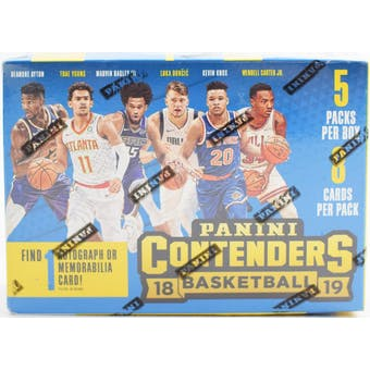 2018/19 Panini Contenders Basketball 5-Pack Blaster Box