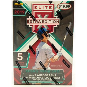 2019 Panini Elite Extra Edition Baseball Blaster Box