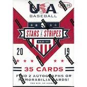 2019 Panini USA Stars & Stripes Baseball 7-Pack Blaster Box