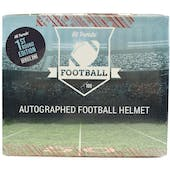 2020 Hit Parade Autographed FS Football Helmet 1ST ROUND EDITION Hobby Box - Series 4 - Mahomes & L. Jackson!