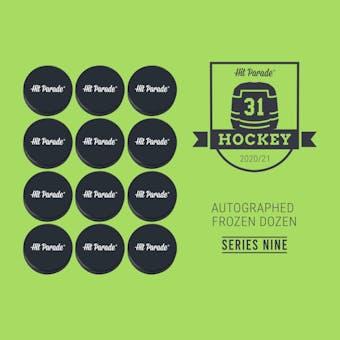 2020/21 Hit Parade Autographed FROZEN DOZEN Hockey Puck Series 9 Hobby Box MacKinnon, Messier & Makar!!