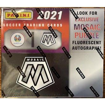 2020/21 Panini Mosaic UEFA Euro 2020 Soccer Retail Box