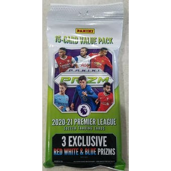 2020/21 Panini Prizm Premier League Soccer Value Fat Pack (Red White & Blue Prizms)
