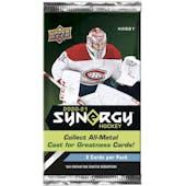 2020/21 Upper Deck Synergy Hockey Hobby Pack