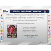 2020/21 Topps Chrome Bundesliga Soccer Hobby Pack