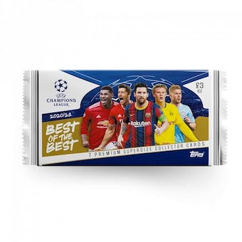2020/21 Topps Best of the Best UEFA Champions League Soccer Pack (European Exclusive!)