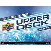 2020/21 Upper Deck Series 1 Hockey 24-Pack 20-Box Case (Presell)