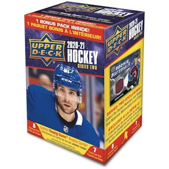2020/21 Upper Deck Series 2 Hockey 7-Pack Blaster Box (Presell)