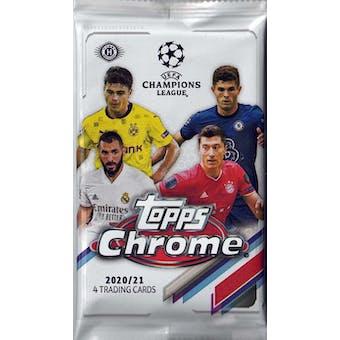 2020/21 Topps UEFA Champions League Chrome Soccer Hobby Pack