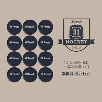 2020/21 Hit Parade Autographed FROZEN DOZEN Hockey Puck Series 14 Hobby Box - Roy, Kucherov & Lundqvist!!