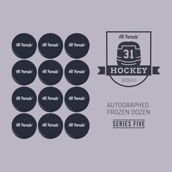 2020/21 Hit Parade Autographed FROZEN DOZEN Hockey Puck Series 5 Hobby Box - Yzerman & Ovechkin!!